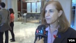 战略与国际研究中心资深研究员葛来仪(Bonnie Glaser)接受美国之音采访(2014年10月)