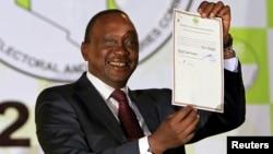Presidente eleito Uhuru Kenyatta