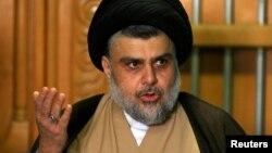 Moqtada al-Sadr shugaban Shiya wanda jam'iyyarsa ta samu rinjaye a zaben 'yan majalisar kasar Iraq da aka gudanar watan jiya