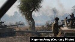 Daya daga hoton fafatawar da aka yi da 'yan Boko Haram a dajin Sambisa