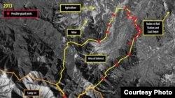 영국 런던에 본부를 둔 국제인권단체 앰네스티 인터내셔널이 지난달 공개한 북한 14호 개천관리소의 위성사진. 디지털글로브 촬영.