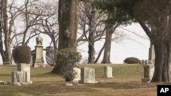 Une vue du cimetière où repose Whitney Houston.