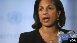 Duta Besar AS di PBB Susan Rice menyebut langkah pencabutan embargo sebagai kesempatan untuk melihat kemajuan Irak