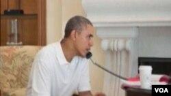 美国总统奥巴马与他国元首通话讨论乌克兰局势(VOA视频)