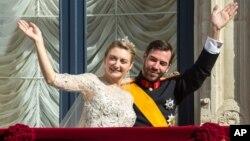 Графиня Стефани де Ланной и Принц Люксембургский Гийом