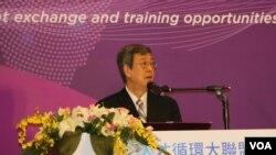 台湾副总统陈建仁应邀在TCA开幕式上讲话。