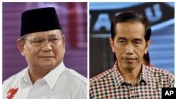 Kandidat Presiden Indonesia, Prabowo Subianto dan Joko Widodo.