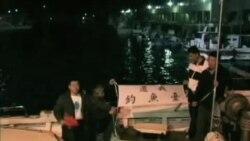 日本海岸警卫队将台活动人士驱离有争议岛屿