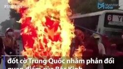 Tố Bắc Kinh 'hậu thuẫn' phe đảo chính, dân Myanmar đốt cờ Trung Quốc
