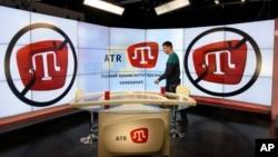 """Qrim-tatarlarning """"ATR"""" telekanali studiyasi, Simferopol, Qrim, 2015-yil, 31-mart"""
