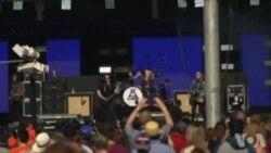 华盛顿地球日演唱会 歌手传扬热爱地球讯息