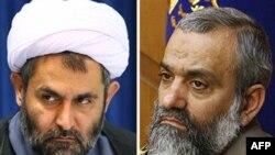 راست: محمدرضا نقدی، چپ: حسین طائب