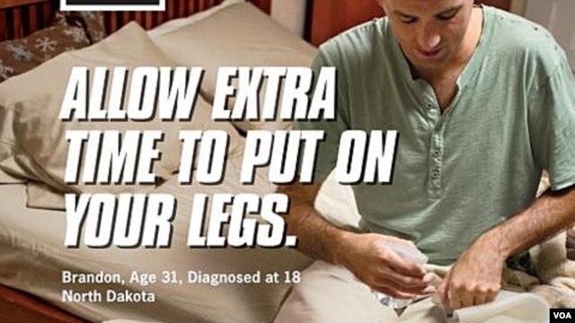 Contoh iklan anti-rokok yang dilancarkan Departemen Kesehatan Amerika