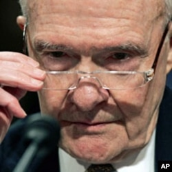 Former National Security Advisor Brent Scowcroft on Capitol Hill in Washington (2007 File photo)