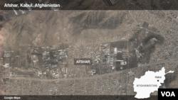 Peta Afshar, Kabul di Afghanistan.