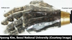 Artificial Skin on prosthetic hand