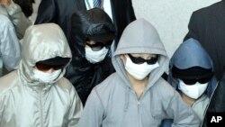 지난 2011년 탈북자 9명이 일본을 거쳐 한국 인천공항에 입국하고 있다.