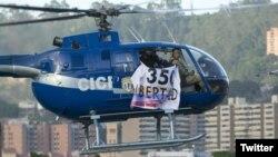 El gobierno venezolano acusó a Pérez de haber realizado un ataque terrorista en el que puso en riesgo a personas inocentes.