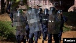 Des policiers à Monrovia