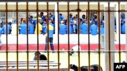 Les prisonniers de la prison de Kinshasa, le 18 décembre 2012.