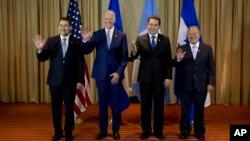 La última vez que se reunieron los mandatarios centroamericanos con el vicepresidente Biden para discutir los mismos aspectos fue durante la toma de mando del presidente de Guatemala, Jimmy Morales.