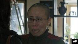 諾貝爾和平獎得主劉曉波妻子劉霞(2012年12月6日資料照片)