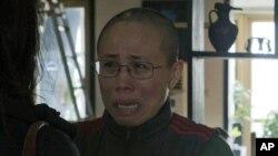 諾貝爾和平獎獲得主劉曉波的妻子劉霞12月6日在家中接受美聯社記者訪問