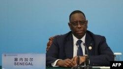 Le président sénégalais Macky Sall à Beijing le 4 septembre 2018.