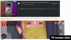Capture d'écran du site internet de Deena Abdelwahed, le phénomène tunisien de la musique électro.