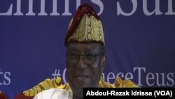 Nicéphore Sogolo, ancien président béninois à l'ouverture du forum à Niamey, le 2 octobre 2019 (VOA/Abdoul-Razak Idrissa).