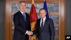 Predsjednik Crne Gore Milo Đukanović i predsjednik Evropskog savjeta Donald Tusk