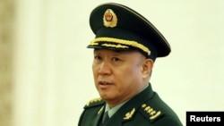 被中國當局帶走的現役上將王建平 (資料圖片)