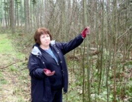 Carol Wick contemplates the possibilities for her woodlot near Enumclaw, Washington.