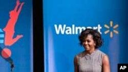 عوام کے کھانے پینے کی اشیاء کا معیار بہتر بنانےکے لیےمشیل اوباما کی مہم