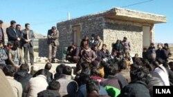 عکی آرشیوی از اعتصاب کارگران معدن کوشک بافق