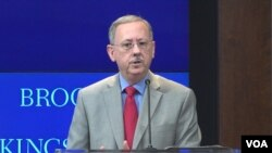 데이비드 트라텐버그 미 국방부 정책부차관이 24일 워싱턴 브루킹스연구소에서 열린 안보 토론회에서 기조연설을 했다.