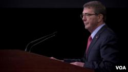 美国防部长卡特预告新财年国防预算 ( 美国国防部照片, 2016年2月2日)