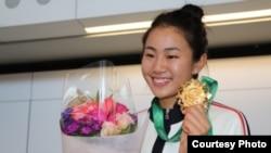 香港知名百米跨栏运动员吕丽瑶曾获亚洲室运会跨栏冠军。(苹果日报图片)