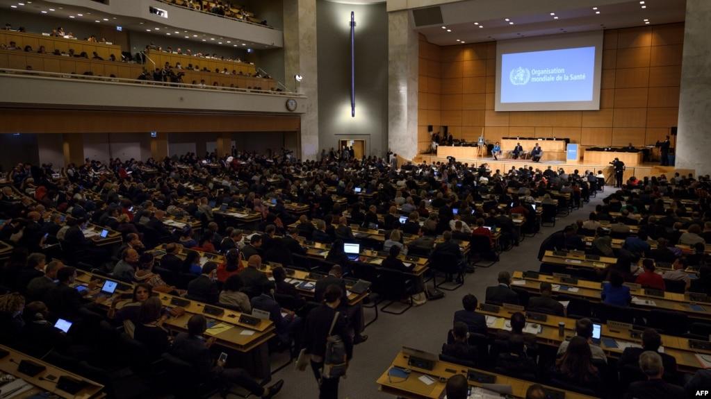 2018年5月21日日内瓦世界卫生组织年度大会(资料照片)