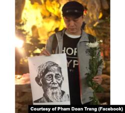 Nhiều người dân tin rằng ông Lê Đình Kình là nạn nhân trong vụ đột kích 9/1 (Photo courtesy of Facebook user Pham Doan Trang)