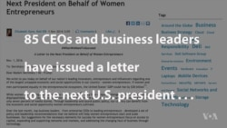 Female Entrepreneurs Issue Letter to Next US President