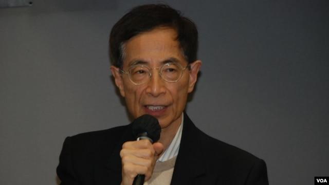 資深大律師李柱銘表示,每一次人大釋法都是對香港法治精神的一個大創傷 (美國之音湯惠芸拍攝)