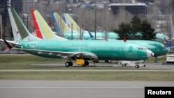 Самолеты Boeing 737 Max, закупленные китайским авиаперевозчиком China Southern Airlines, на заводе компании Boeing в штате Вашингтон, 11 марта 2019 года