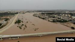 تصویری از سیل چند هفته پیش در اهواز
