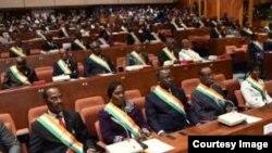 Les sénateurs ivoiriens, à Yamoussoukro, le 5 avril 2018. (Facebook/Jeannot Ahoussou Kouadio)