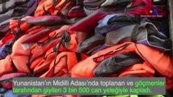 Mültecilerin Geride Kalan Can Yelekleri Sanat Eserine Dönüştü