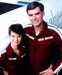 Jeana Yeager and Dick Rutan