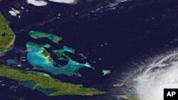 Les îles Bahamas, vue de l'espace (Photo AP)