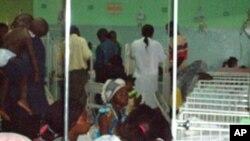 Interior da urgência pediátrica de Luanda