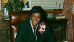 "Barbara Jordan's smile during ""Governor for a Day"" ceremonies in 1972."